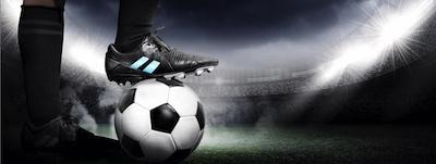 Fußball Schuh im Stadion