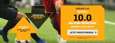 Betfair Quotenboost Bayern gegen Schalke