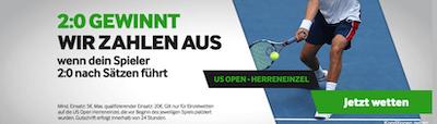 Betway US Open 2:0 Führung