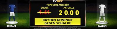 LVBet Quotenboost auf Bayern gegen Schalke