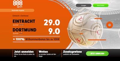 29.0 auf Frankfurt, 9.0 auf BVB - 888sport