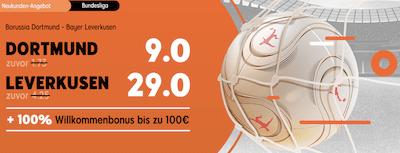 888sport erhöhte Quoten bvb leverkusen