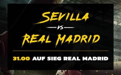Sevilla-Real bei Energybet: 31.0 auf Auswärtssieg
