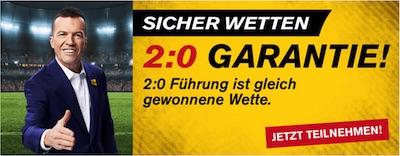 Bundesliga: 2:0 Garantie von Interwetten