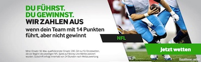 NFL Aktion bei Betway