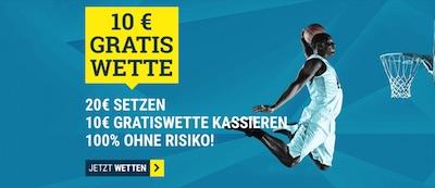 Sportwetten.de Basketball WM 10€ Gratisguthaben