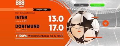 888sport Inter Mailand Borussia Dortmund verbesserte Quoten