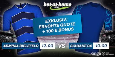 Super Quote zu Bielefeld gegen Schalke bei Bet-at-home