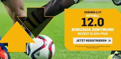 Dortmund besiegt Slavia? 12.0 bei Betfair