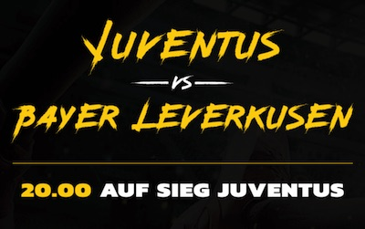 EnergyBet Juventus Turin Bayer Leverkusen Quotenboost