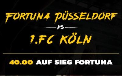 EnergyBet Fortuna Düsseldorf - FC Köln Quotenboost wetten