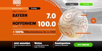 888sport boostet die Quoten zu Bayern gegen Hoffenheim