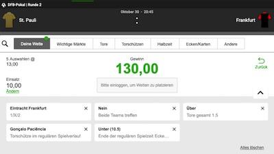 Betway Konfigurator StPauli Frankfurt Pokal