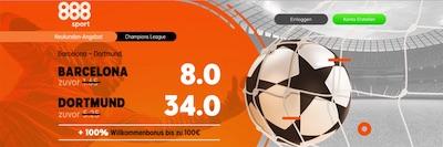 888sport Barcelona Dortmund erhöhte Quoten wetten