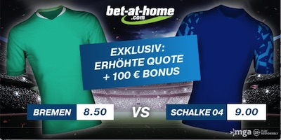 Bet-at-home Werder Bremen - Schalke 04 Quotenboost