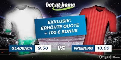 Bet-at-home Odds Boost zu Gladbach vs Freiburg