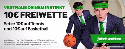 Betway Tennis Basketball Freiwette