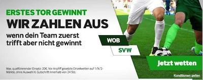 Betway Wolfsburg Werder Bremen erstes Tor zählt