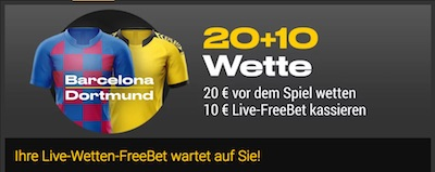 Bwin Live-Gratiswette zu Barcelona vs Dortmund