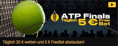 Täglich 5€ Freebet von Bwin zu ATP Finals