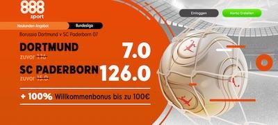 888sport mit Top Quoten zu Dortmund-Paderborn