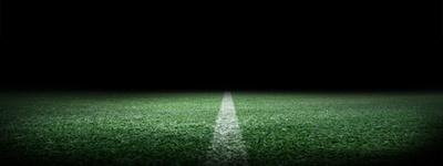 Fußballplatz Mittellinie