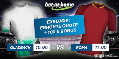 Gladbach vs. Roma: Bet-at-home Boost zur Europa League