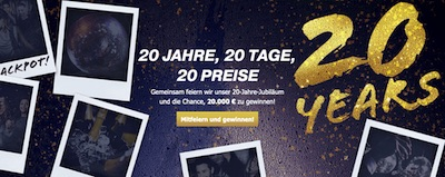 Bet at home Adventskalender mit 20 Preisen