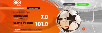 888sport BVB Slavia Quotenboost wetten
