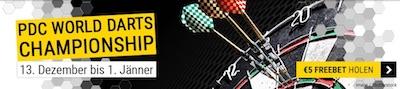 Cashpoint schenkt dir Guthaben fuer Darts-WM Wette