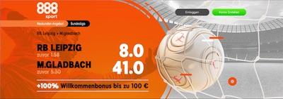 888sport Leipzig Gladbach erhöhte Quoten Wetten