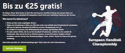 ComeOn mit Freebet Aktion zur Handball EM 2020