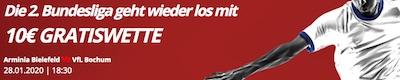 Novibet bietet Gratiswette zu Bielefeld gegen Bochum