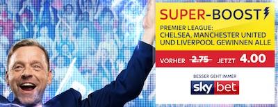 Sky Bet verbessert die Kombiquote auf Chelsea, ManUnited und Liverpool