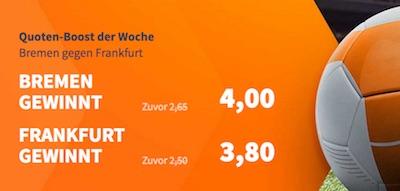 Betsson Boost der Woche zu Bremen vs. Frankfurt