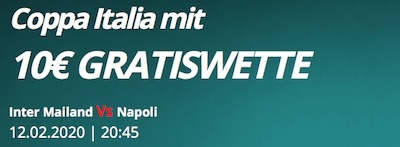 Novibet Gratiswette zum Coppa Italia Halbfinale Inter vs. Napoli