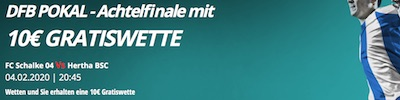 Novibet belohnt Wette auf Schalke vs. Hertha im DFB-Pokal mit Freebet