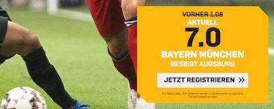 Top-Quote auf Bayern gegen Augsburg bei Betfair