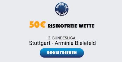 Ohmbet bietet risikofreie Wette auf Stuttgart vs. Bielefeld