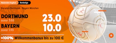 888sport boostet Wettquoten zu Borussia Dortmund gegen Bayern München
