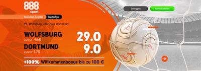 888sport Wolfsburg Dortmund erhöhte Quoten wetten