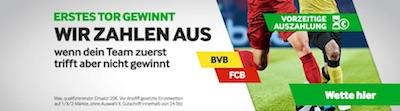 Betway zahlt nach richtigem 1. Tor bei Dortmund vs. FC Bayern aus