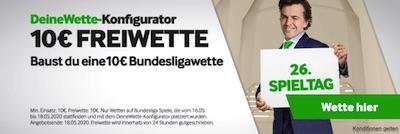Betway: 10€ für selbstgebaute Bundesliga Wette kassieren