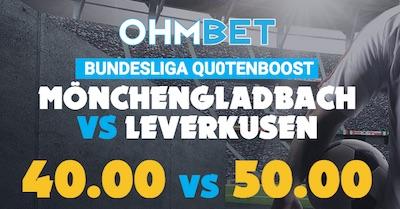 Ohmbet verbessert Quoten auf Gladbach gegen Leverkusen