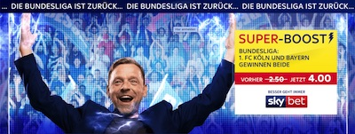 Sky Bet Super Boost Quote Köln Bayern gewinnen beide wetten