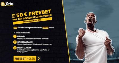 XTiP Reload 50 Euro Freebet
