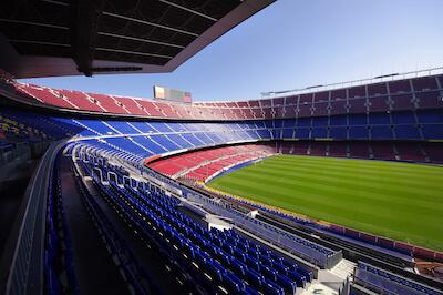 Leeres Camp Nou Stadion