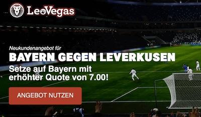 LeoVegas Quoten Special zu Leverkusen-Bayern