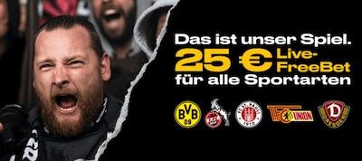 25€ Geschenk von Bwin für Wetten auf Partnervereine