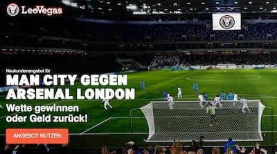 10 Euro Wette ohne Risiko auf das Comeback-Match der Premier League zwischen Manchester City und FC Arsenal